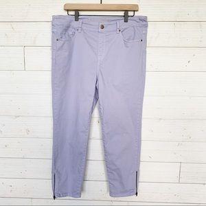 Soft Surroundings Light Lilac Ankle Legging Jeans